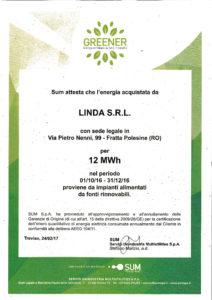 energia rinnovabile, greener, linda, sum spa, sum s.p.a.